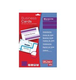 Decadry Decadry visitekaarten MicroLine 85x54mm,185g/m²,500 kaartjes