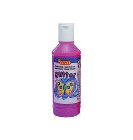 Jovi Jovi Plakkaatverf Glitter flacon van 250 ml, roze