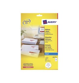 Avery Avery Witte etik. QuickDry 40 bl, 63,5x33,9 mm 960st, 24/bl