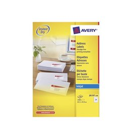 Avery Avery witte etik. QuickDry 63,5x33,9 mm 2.400st, 24 per bl