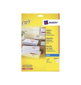 Avery Avery Witte etik. QuickDry 10 bl, 63,5x38,1 mm 210st, 21/bl