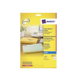 Avery Avery Transparante etiketten QuickPEEL ft 63,5 x 38,1