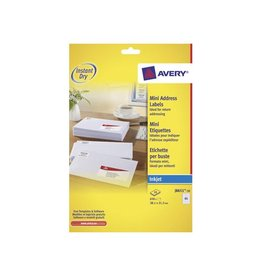 Avery Avery witte etiketten QuickDry 38 1x21, 2mm 650st, 65 per bl