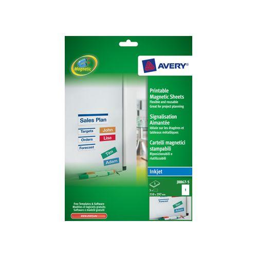 Avery MAGNEETET 210X297MM WT DS4 (J886750)