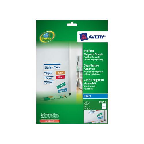 Avery MAGNEETET 50X140MM WT DS40 (J887550)