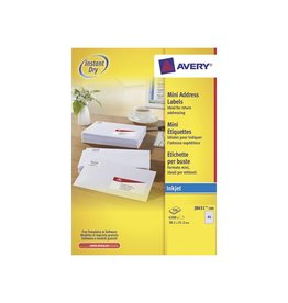 Avery Etiket Avery j8651-100 38.1x21.2mm 6500s