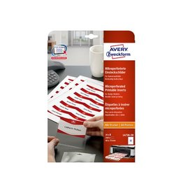 Avery AVERY Badge ft 40 x 75 mm, 240 stuks