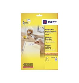 Avery Zweckform Avery afneembare witte etik Stick&Li 25,4x10mm 4725st 189/bl