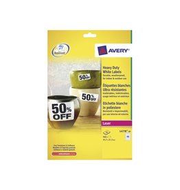 Avery Zweckform Etiket Avery l4778-20 45.7x21.2mm polyes