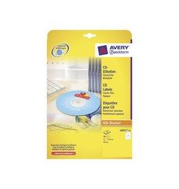 Avery Zweckform Etiket Avery cd l6015-25 50st