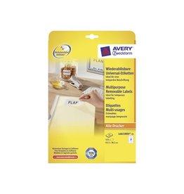 Avery Zweckform Avery afneembare etik. Stick & Li 63,5x38,1 mm 525st, 21/bl