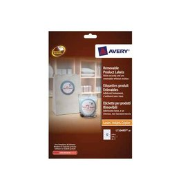 Avery Avery Afneembare productetik. 60mm, rond, 240st, 12/bl, 20bl