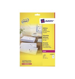 Avery Avery laseretik. QuickPeel 40 bl, 63,5x38,1 mm 840st, 21/bl
