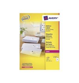 Avery Etiket Avery l7160-250 63.5x38.1mm 5250s