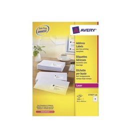 Avery Avery witte l.etik. QuickPeel 100bl 63,5x46,6mm 1800st 18/bl