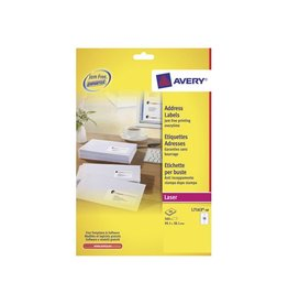Avery Avery laseretik. QuickPeel 40 bl, 99,1x38,1 mm 560st, 14/bl