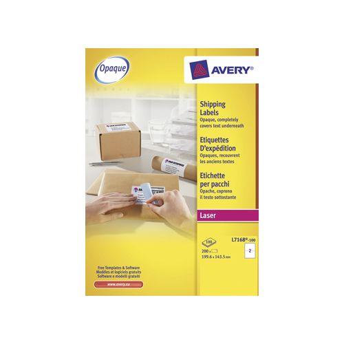 Avery Avery witte l.etik. QuickPeel 100bl 199,6x143,5mm 200st 2/bl