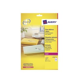 Avery Etiket Avery l7551-25 38.1x21.1mm transp