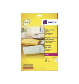 Avery Etiket Avery l7562-25 99.1x33.9mm transp