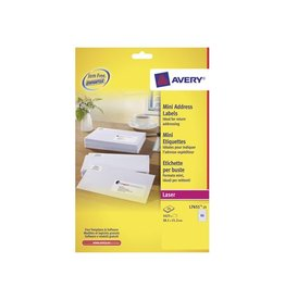 Avery Avery Witte laseretik. QuickPeel 38,1x21,2 mm 1.625st, 25 bl