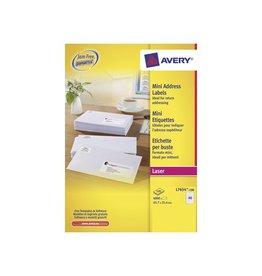 Avery Etiket Avery l7654-100 45.7x25.4mm 4000s