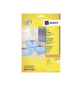 Avery Avery Full size laser etiketten voor CD/DVD 50st,doos 25blad