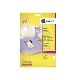 Avery Avery Etiketten hoogglanzend 210x297mm(bxh),doos 40blad,40st