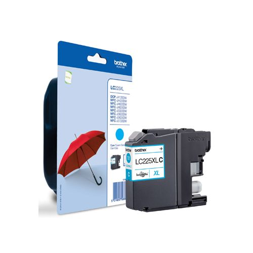 LC-225XL inktcartridge cyaan high capacity 1-pack blister zonder alarm
