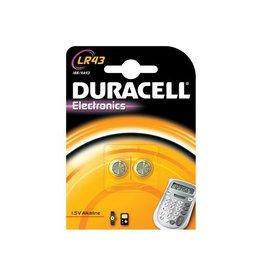 Duracell Duracell knoopcellen Alkaline Electronics LR43, 1,5V, 2 stuk