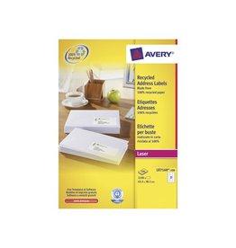 Avery Etiket Avery lr7160-100 63.5x38.1mm 2100