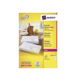 Avery Etiket Avery lr7162-100 99.1x33.9mm 1600