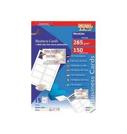 Decadry Decadry visitekaarten MicroLine 85x54mm,285g/m²,150 kaartjes