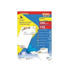 Decadry Decadry visitekaarten TopLine 150 kaartjes, rechte hoeken