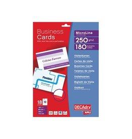 Decadry Decadry visitekaarten MicroLine 85x54mm,185g/m²,180 kaartjes