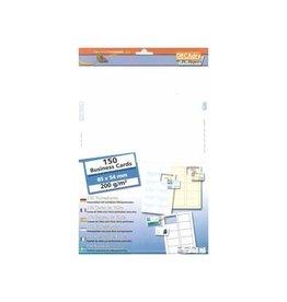 Decadry Decadry visitekaarten MicroLine ft 85 x 54 mm, 200 g/m², 150