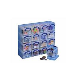 Really Useful Box Really Useful Box muurkubus met 16 x 0,14 liter, transparant