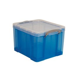 Really Useful Box Really Useful Box 35 liter, transparant, blauw [6st]