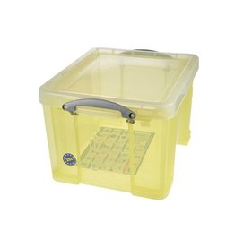 Really Useful Box Really Useful Box 35 liter, transparant geel [6st]