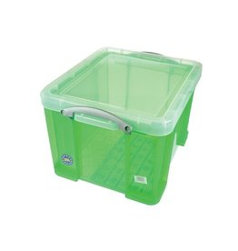 Really Useful Box Really Useful Box 35 liter, transparant groen [6st]
