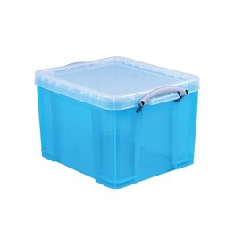 Really Useful Box Really Useful Box 35 liter, transparant helblauw [6st]