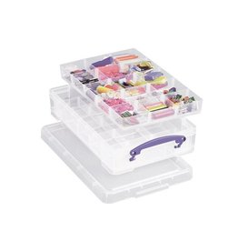Really Useful Box Really Useful Box 4 liter met 2 dividers, transparant