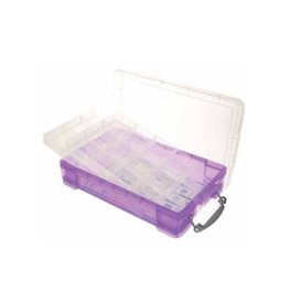 Really Useful Box Really Useful Box 4 liter met 2 dividers, transparant paars