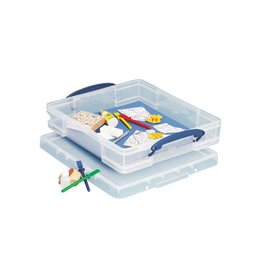 Really Useful Box Really Useful Box 7 liter met divider, transparant