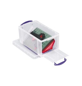Really Useful Box Really Useful Box 8 liter met opening aan de voorkant, trans