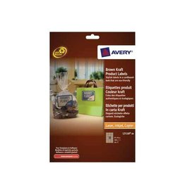 Avery Avery Productetiketten uit karton 62x42mm, 360st, 18 per bl