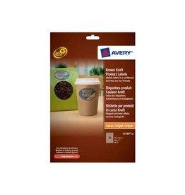 Avery Avery Productetiketten uit karton ft 63,5 x 42,3 mm (b x h),