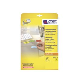 Avery Zweckform Avery afneembare etik. 99,1x38,1mm 280st, 14/bl, geel