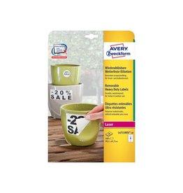 Avery Avery afneembare weerbestendige etiketten Ft 99,1 x 67,7 mm