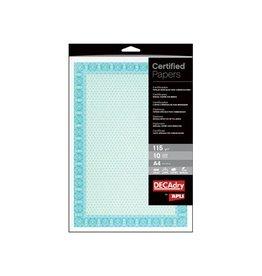 Decadry Certificaatpapier Decadry A4 Wit met Watermerk 115gr 70vel