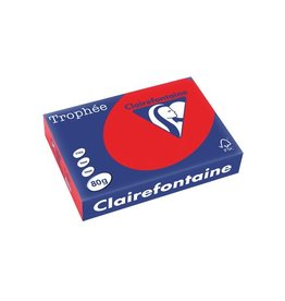 Clairefontaine Papier Clairefontaine Trophée Intens A4 koraalrood, 80 g, 500 vel